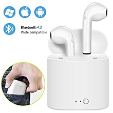 engjoy i7s tws mini wireless bluetooth earphone stereo earbud headset with charging box mic for iphone xiaomi all smart phone air pods