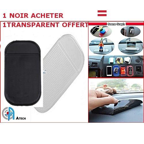 2 Tapis Anti Dérapant Pour Tableau De Bord De Voiture -Transparent