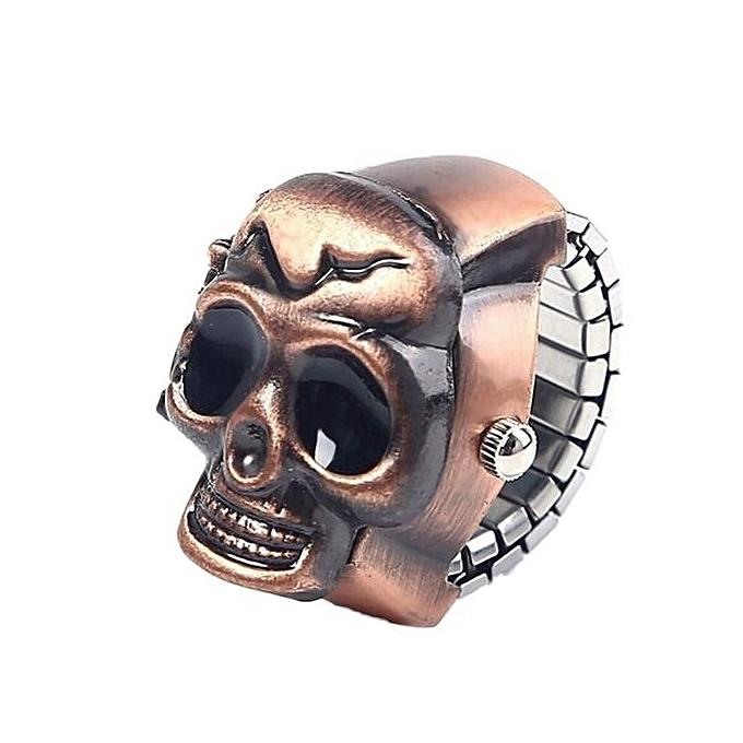Generic Tcetoctre Fashion Unisex Retro Vintage Finger Skull Ring Watch Clamshell Watch- Gold au Côte d'Ivoire à prix pas cher  | Promotion  Anniversaire