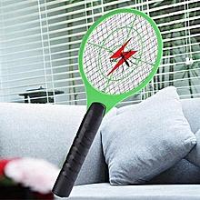 raquette electrique anti-moustique - rechargeable - tue moustique vert