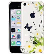 for iphone 5c white chrysanthemum pattern imd workmanship soft tpu protective case