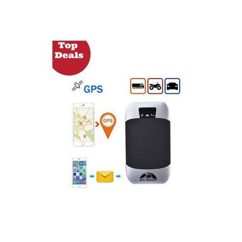 Traceur GPS GSM  Coupe Moteur Voiture - Moto - Quad & Scooter étanche Branchement - 12v - Temps Réel à Alarme Antivol Véhicule  - Noir
