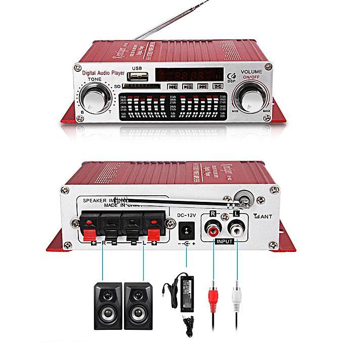 Amplificateur audio haute puissance hy 602 rouge for Amplificateur tv interieur