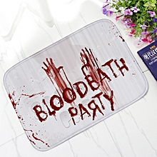 whiskyky store blood footprint bath mat door mat scary horror style halloween decoration hot