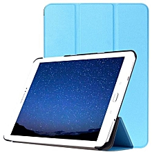 custer texture horizontal flip leather case with 3-folding holder for samsung galaxy tab s2 9.7 / t815(blue)