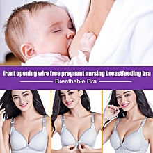 f246f1b4414 Women Wire Free Soft Cotton Maternity Bra Pregnant Breastfeeding Nursing  Sleep Bras (Gray 75B)