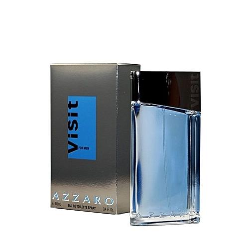 Azzaro Visit 100 Ml Eau De Toilette Pour Homme Gris Bleu
