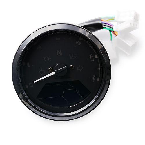 Tachymètre LED Avec Indicateur De Vitesse CS-363 12V  Pour Moto - Noir