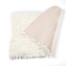 rectangle doux tapis en peau de faux tapis canapé salon chambre à coucher tapis blanc