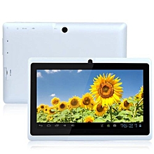 7'' a33 google android 4.4 quad core dual camera wifi 16g tablet usplug white