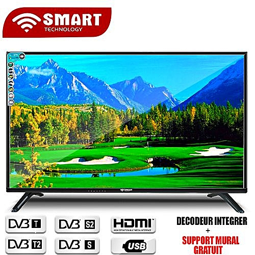 smart technologytv led ultra slim 32 pouces 3xhdmi usb vga tnt r gulateur de tension. Black Bedroom Furniture Sets. Home Design Ideas