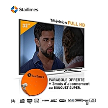 STARTIMES TV LED 32'' - Décodeur Intégré - HDMI/USB/VGA +