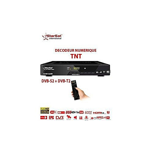 Décodeur HD-WIFI- SR-88 HD - Noir