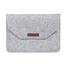 15 inch inner package phone and tablet case felt bag for iphone 7 plus /  iphone 7 /book retina 15.4 inch(grey)