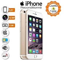 iphone 6s plus - 5.5 pouces - 4g lte - 16 go - 2go ram- 12mpx - or + protège offert- reconditionné - garantie 12 mois