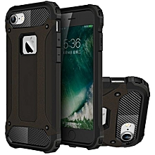 case for for iphone 7 hybrid full body heavy duty armor dual layer shock absorbing tpu protective case rose gold