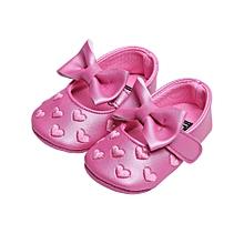 46169748866 Chaussure A Noeud Papillon Pour Bébé - De 0-18M - Rose
