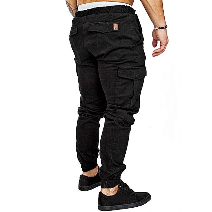 9d2d524f636fe Pantalon Elastique Pour Homme - Noir Pantalon Elastique Pour Homme - Noir