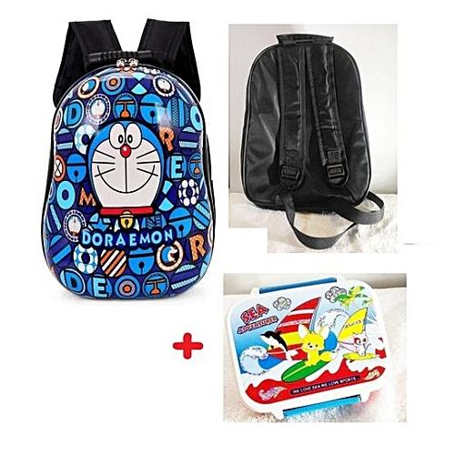 bas prix 94991 3c93e Sac à Dos Coquille DORAEMON école Pour Petit Garçon CP + 1 Lunch Box Offert
