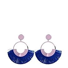 boucle d'oreilles à frange - femme - bleu