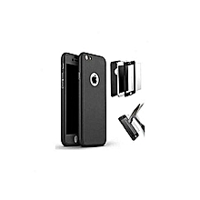 coque complet 360° compatible iphone 5g/5s + antichoc -noir