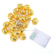 20-led 2.8m rattan ball string cell lamp fairy lights wedding party gold fjmall