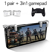 hot game gamepad for universal mobile phone game controller shooter trigger fire button aim keys joystick for pubg for iphone xs fcshop