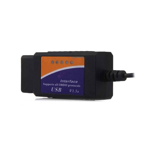 USB Interface OBDII Diagnostic Auto Car Scanner Scan Tool - Black