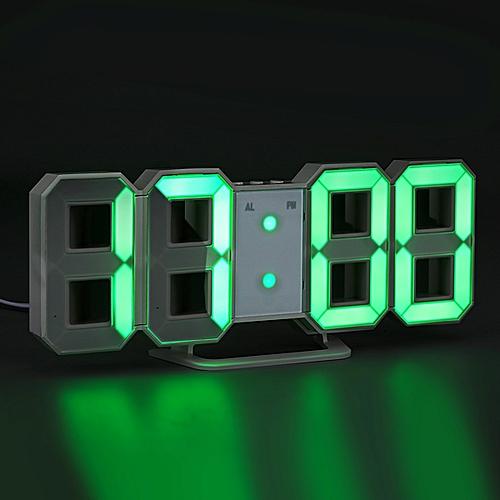 Merveilleux PRODUITS GENERIQUES Horloge Murale LED   Vert