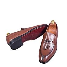 6c22db5c4a5 Chaussure Homme En Soulier En Cuir - Marron