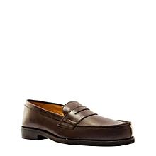 Chaussures Hommes En Mocassins Style College Avec Detail Moustache - Marron 3f2eed7fc903
