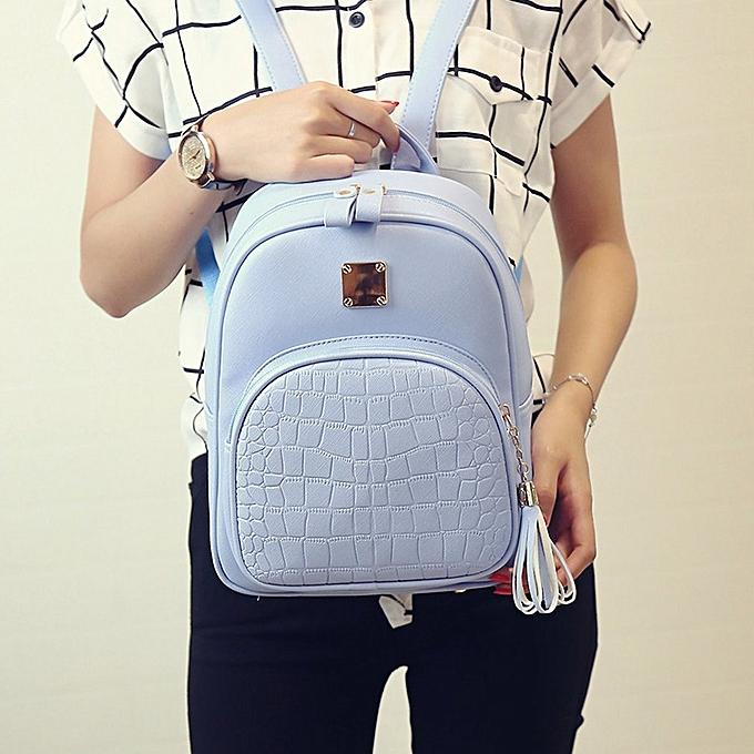 Generic Soft PU Leather Shoulder Bag Outdoor Travel Backpack Students School Bags au Côte d'Ivoire à prix pas cher     Côte d'Ivoire