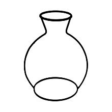étagères fer noir vase en verre vases ornement décoration bureau chambre élégante noire