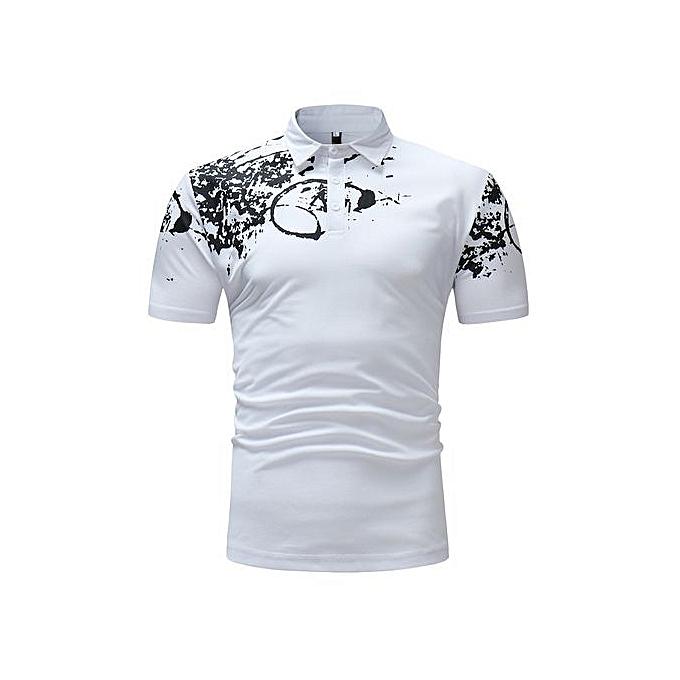 9d7442b9f439c AFankara T-shirt Manches Courtes Pour Homme - Blanc - JGCI - Prix ...