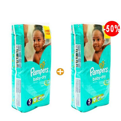 pampers couches b b baby dry midi taille 5 11 25 kg. Black Bedroom Furniture Sets. Home Design Ideas