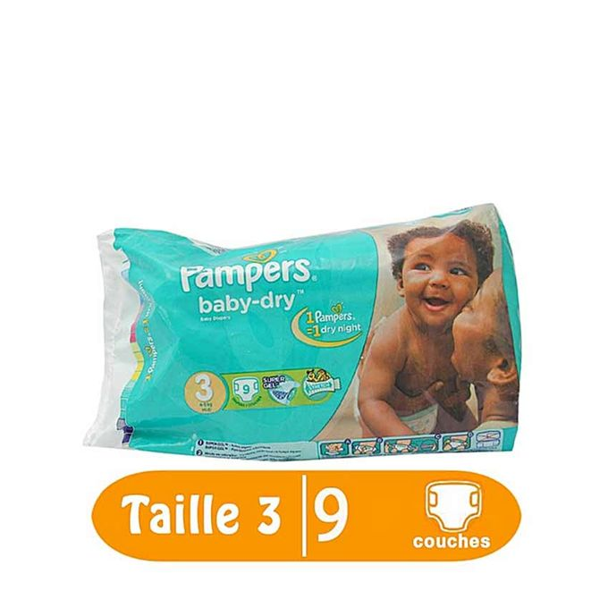 Pampers couches b b baby dry taille 3 4 9 kg 9 couches acheter en ligne jumia c te - Couche pampers baby dry taille 4 ...