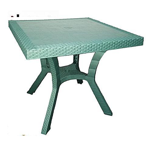 Salon de jardin Table De Jardin 80 Cm En Plastique - Vert | Jumia ...