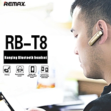 remax t8 4.1 car driver earhook stereo sports bluetooth earbuds with mic handsfree head phones for iphone / android mobile dacstore