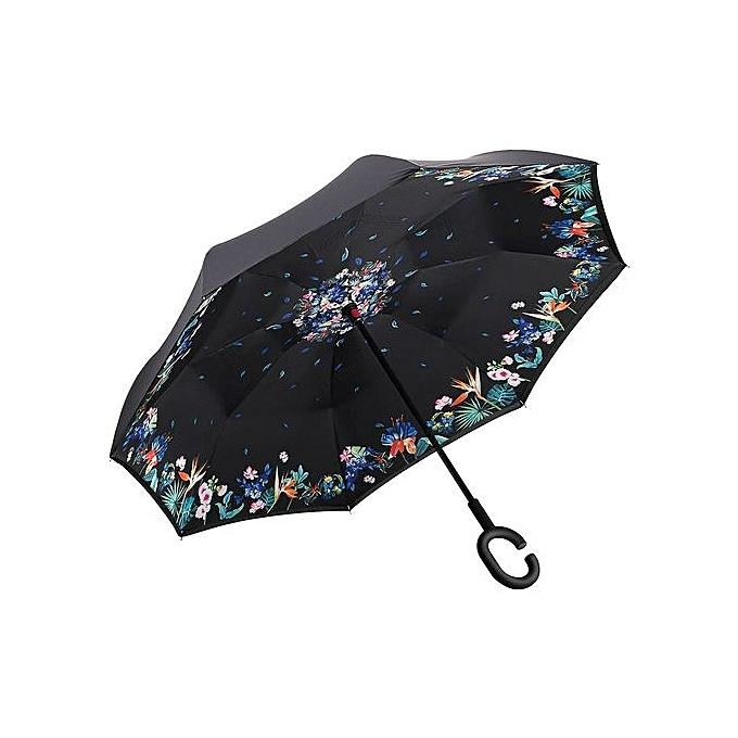 Imprim floral coupe vent inverse ouvert fermer parapluie for Par a vent exterieur