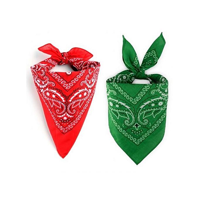 Sans marque Pack Bandana - Rouge Vert - Prix pas cher   Jumia CI 4c13a38137b