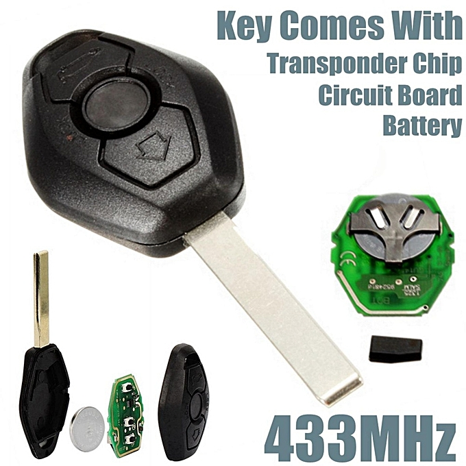 Universalremote Key Fob Keyless Entry 433mhz Transponder