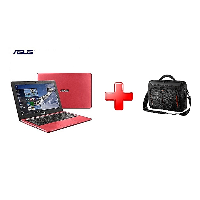 e1219be4d8c8f9 ASUS PC Ordinateur Portable VivoBook D540YA – AMD Dual Core E1 – 7010 1.5  Ghz – RAM   2 Go – DISQUE DUR   500 Go- ROUGE – Garantie 6 Mois+ Sac ...