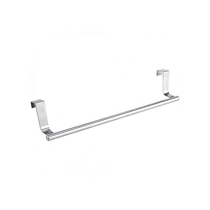 hanging white towel. Cabinet Drawer Towel Hanging Rack Storage Holder Over Door Hanger Kitchen Bathroom (Long 36cm) White