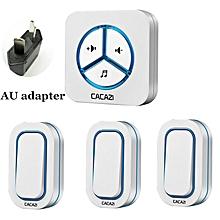 doorbell 280m remote ac 110-220v us/eu/uk plug wireless door bell 48 rings door chime 3 waterproof buttons+1 receiver adnan
