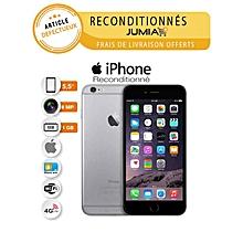 """iphone 6 plus - 5.5"""" - 16go/1go - 4g lte - 8 mpx - 1xsim -  gris - reconditionné - garantie 12 mois"""