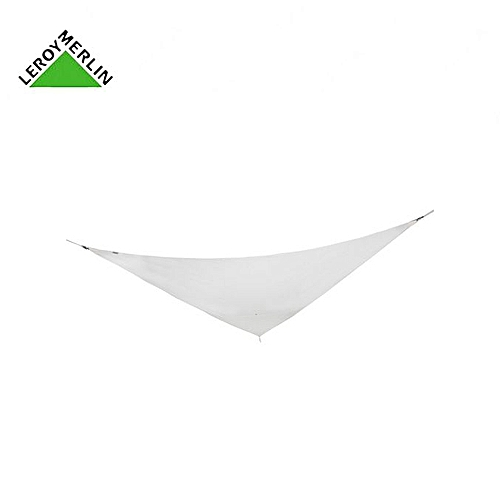 Leroy Merlin Toile Voile D\'Ombrage Triangulaire Blanc Ivoire - L.360 ...