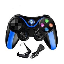manette de jeu bluetooth - compatible smartphone android/iphone/ipad/pc/tablette/ps3/xbox + support smartphone offert- bleu/noir