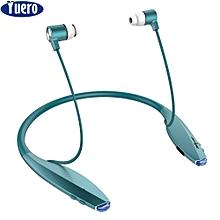 zealot h7 wireless earphones neckband bluetooth headset in-ear headphones for iphone magnet earpiece 2 in 1 with microphone new (blue) txshop