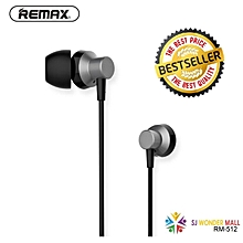 remax hd sound in ear earphone stereo headset headphone hands-free rm-512 for iphone samsung huawei oppo vivo   soitmai