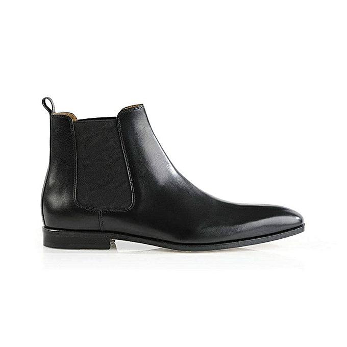 38ffce4887ee Cuir Chaussure Gaine Prix En Marque Homme Pour Sans A Boot Noir TqBZY6w